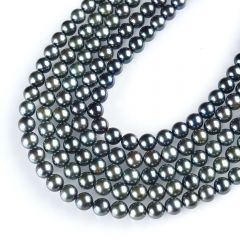 7.5-8mm 16 Inch AA+ Black Chinese Akoya Saltwater Pearl Strands