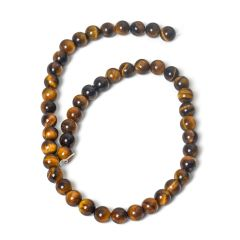 8mm Tiger Eye Round Loose Beads Strand For Jewelry Making DIY Necklace Bracelet