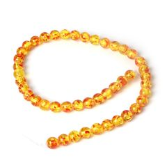 1 strand Amber Stone Beads 8mm Round Loose Beads Strand For DIY Jewelry Making Handmade