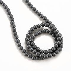 """Matte Hematite Beads 4mm Loose Gemstone Round 16"""" Full Strand Hematite Jewelry"""