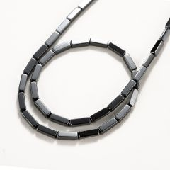 Smooth Hematite Rectangle Column Beads For Jewelry Making Strand 16 Inches