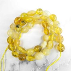 Yellow Opal Loose Beads Strand Energy Power Stone for Jewelry Making 16""