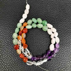 Multi Color Mixed Stone Beads for DIY Jewelry Making Red Agate Amethyst Aventurine Rose Quartz Crystal Gemstone Beads