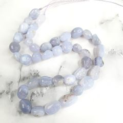 Blue Lace Agate Stones Loose Beads Strand for Bracelet Necklace Earrings Healing Jewelry Making 16 inch