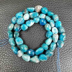 Irregular Smooth Blue Apatite Stone Beads for Jewelry Making DIY Beads Bracelet 16 inch/Strand