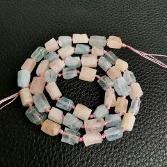 Mixed Morganite and Rose Quartz Stone Beads Strand 16 inch for DIY Bracelet Necklace Earring