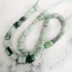 Faceted Column Jadeite Stone Gemstone Loose Beads for Jewelry Making Accessories Strand 16 inches