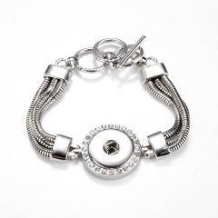 Women Fashion Chain Bracelets Bangle Fits 18/20mm Snap Buttons DIY Snap Jewelry
