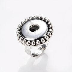 Classic Alloy Adjustable Snap Ring Jewelry 24.5mm Fit Press Buttons Accessories US Size 7.5