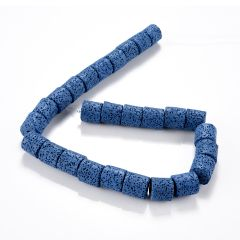 14*15mm Column Shape Lava Rock Gem Stone Beads for DIY Necklace Bracelet Jewelry Making 15.5""