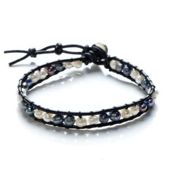 Potato Freshwater Pearls Beaded Single Wrap Bracelet Handmade Fashion Women Jewelry