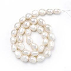 White Fresh water Pearl 9-10 Loose Beads Strand Jewelry Bulk