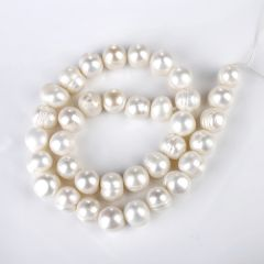 11-12mm Jewelry Making Natural White Freshwater Pearl Loose Beads Strand