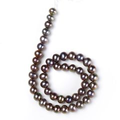 8-9mm Round Freshwater Pearl Loose Beads Strand for DIY Necklace Bracelet Making