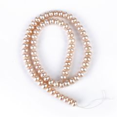 Cultured Pink Freshwater Pearl Loose Beads 7-8mm for Jewelry Making Beads Strand