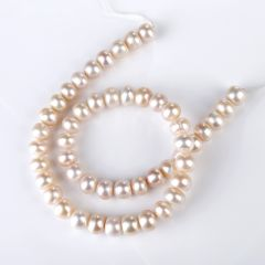 9-10mm Jewelry DIY Making Nearly Round Pink Freshwater Pearl Strand