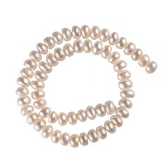 9-10mm White Freshwater Button Pearl Loosen Strand on Wholesale