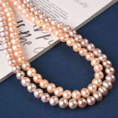High Luster 7-8mm Freshwater Potato Pearls Strand Jewelry Making Loose Beads