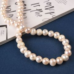 8-9mm Natural White Cultured Freshwater Potato Pearl Strands Wholesale