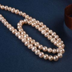 3-4mm Small Pink Freshwater Pearl Loose Beads Strand for Women Jewelry Making