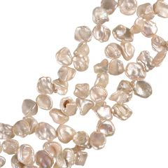 Natural White Top-Drilled Reborn Keshi Pearl Strand 15 inch Wholesale