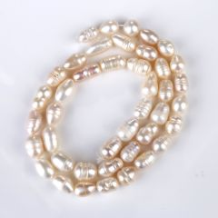 6-7mm Fresh Water Rice Pink Natural Pearl Beads Strand for DIY Handmade Jewelry