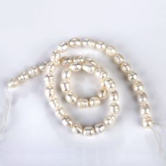 7-8mm Fresh Water Rice White Pearl Beads Strand for DIY Jewelry Accessories