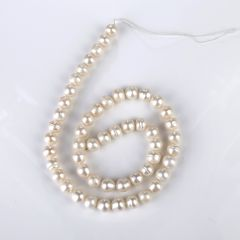 White Fresh water Pearl Loose Beads Strand 8-9mm for DIY Jewelry Accessory