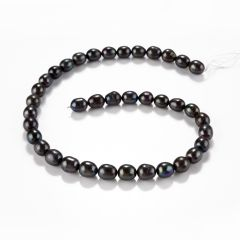 Jewelry Making 9-10mm Black/Pink Cultured Freshwater Pearl Loose Spacer Beads Strand 15""