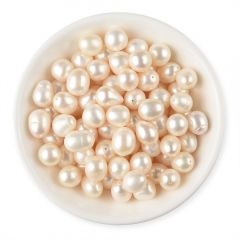 10-11mm White Loose Teardrop Genuine Freshwater Pearls Half Drilled Hole