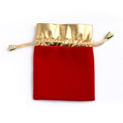 100 Pcs/lot Luxury Jewelry Pouches Packing Velvet Gift Bags Wedding Jewelry Holder Drawstring Carrying Case