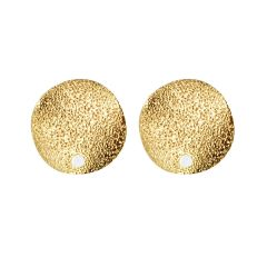 Gold-plated Brass Round Circle Disc Geometric Stud Earrings Jewelry Supplies Findings Ear Post Earstud