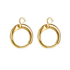 Lever Back Earring Components Wire Hooks Gold Plated Brass Huggie Hoop Earrings Making Findings
