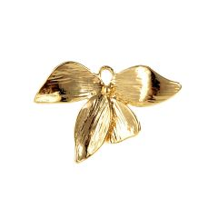 Tiny Gold Plated Brass Four Leaves Flower Charms Pendant for DIY Crafting Jewelry Supplies