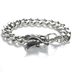 316 Stainless Steel Dragon Head Link Chain Bracelet
