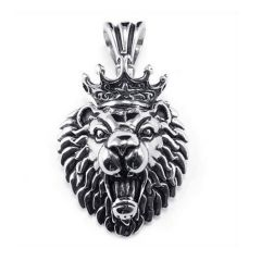 Biker Men's Lion King Pendant Stainless Steel Vintage