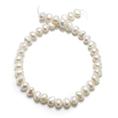 9-10mm Nugget White Freshwater Cultured Pearl Loose Pearls Strand