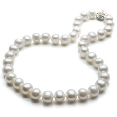 Off-Round 11-12mm AA White Pearls Necklace N1335