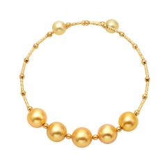 Elegant  18 K Saltwater Pearl Bracelet Jewelry Adjustable for Women