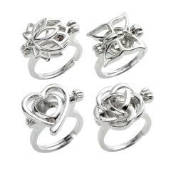 Copper Ring Cage Ring for Ladies and Children Lotus(NO1) Butterfly(NO2) Heart(NO3) Rose(NO4)