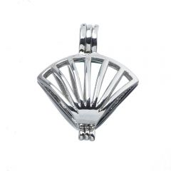 Pick A Pearl Cage Copper Charm Wish Pearl Cage Pendant Ocean Scallop Clam Shell Starfish Style