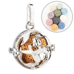 Cute Little Angel Beads Cage Locket Pendant Essential Oil Diffuser Locket DIY Jewelry Making Supplies