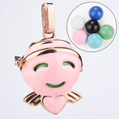 Cute Smiling Face Bola Harmony Cage Locket Lovely Cartoon Pregnancy Charms Pendant