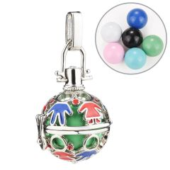 Chic Harmony Bola Chime Bell Cage Locket Pendant for Pregnant Women DIY Jewelry Supplies