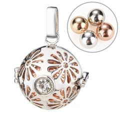 Harmony Chime Ball Belly Sounds Cage Locket Pendant Pregnancy Jewelry Gift