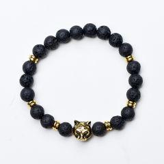 8mm Lava Rock Aromatherapy Essential Oil Diffuser Elastic Yoga Bracelet