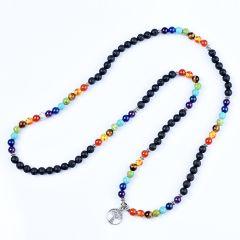 108 Healing Buddhist Prayer Beads 7 Chakra Yoga Meditation Mala Tree of Life Multilayer Bracelet Necklace