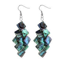Particular Popular Shell Dangle Earrings with Square Shells Drop for Women Jewelry Gifts