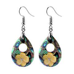 Shell Teardrop Dangle Hook Earrings For Women's Fashion Charms Jewelry