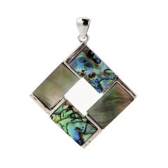 Natural Mother of Pearl Abalone Shell Inlay Square Pendants